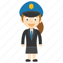 little girl police officer, girl cop cartoon, girl cop character, child police, kid police character