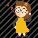 cartoon girl singer, cartoon girl singing, cartoon singer, girl singing, kids cartoon character icon