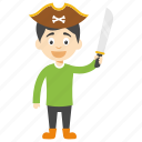 kids cartoon character, pirate kid cartoon, funny pirate, cartoon pirate boy, pirate kid
