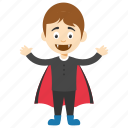 boy vampire, cartoon vampire, halloween cartoon vampire, kid vampire, vampire cartoon boy icon