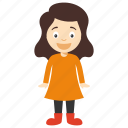 child girl, kids cartoon character, kids cartoon girl, little cartoon character, little cartoon girl icon