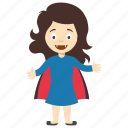 superhero child, female child superhero, kids cartoon character, girl superhero, superhero kid