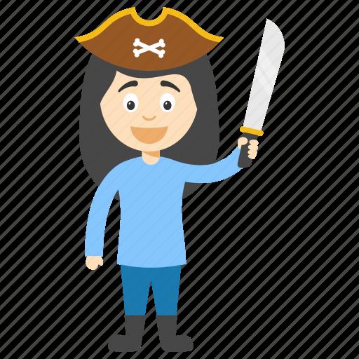 cartoon pirate girl, funny pirate, kids cartoon character, pirate kid, pirate kid cartoon icon