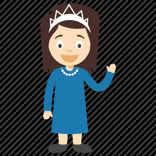 cartoon princess, child princess, kid princess, little princess, princess character icon