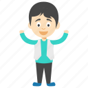 cartoon kid character, happy boy, happy cartoon boy, happy cartoon kid, joyful cartoon boy icon