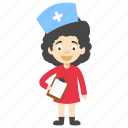 cartoon nurse, cartoon nurse character, cute cartoon nurse, cute nurse, little cartoon nurse icon