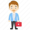 cartoon doctor, cartoon doctor character, kids cartoon character, male cartoon doctor, male doctor cartoon icon