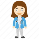 cartoon doctor girl, doctor girl, doctor girl cartoon, female cartoon doctor, pretty doctor girl icon