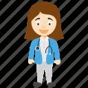 cartoon doctor girl, doctor girl, doctor girl cartoon, female cartoon doctor, pretty doctor girl icon