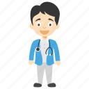 cartoon doctor boy, doctor boy, doctor boy cartoon, little doctor boy, male cartoon doctor icon