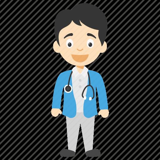 cartoon doctor boy, doctor boy, doctor boy cartoon, little doctor boy, male cartoon doctor icon