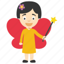 baby fairy cartoon, cute little fairy, fairy cartoon character, fairy character, little fairy cartoon icon