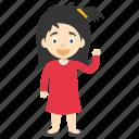 cartoon girl, child girl, kid cartoon character, kid cartoon girl