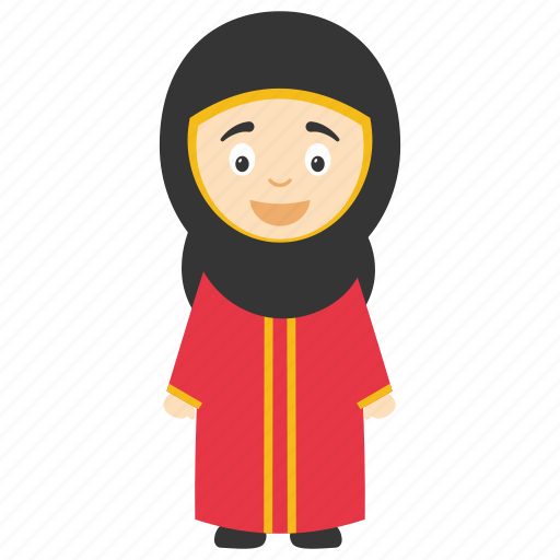 Cartoon muslim girl, cute islamic cartoon, hijab cartoon girl, hijab child, kids cartoon character icon - Download on Iconfinder