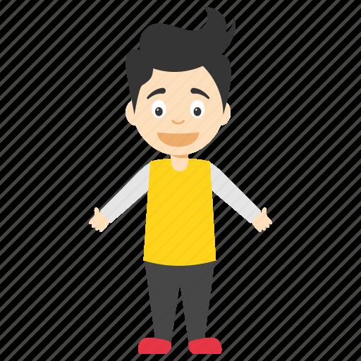 cartoon kid character, happy boy, happy cartoon boy, happy cartoon kid, joyful cartoon boy icon