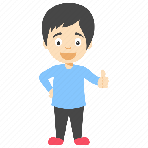 cartoon boy giving thumb up, cartoon child, cartoon kid, cartoon little boy, cute little boy icon