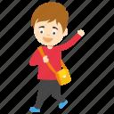 kids cartoon character, little schoolboy cartoon, schoolboy, schoolboy cartoon, schoolboy cartoon character icon
