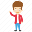 cartoon boy waving, child waving, cute little boy, kids cartoon character, cute cartoon boy