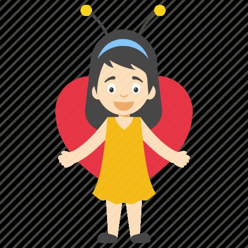 baby girl butterfly, butterfly girl character, butterfly wings girl, kid wearing butterfly costume, little butterfly girl icon