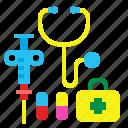 doctor, hospital, medical, medicine, set