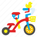 bicycle, bike, child, kid, toy, tricycle, vehicle icon
