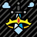 boy, crown, prince, sword, toy