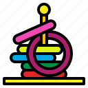 game, hoop, ring, toss, toy icon