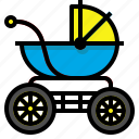 baby, child, family, kid, stroller icon