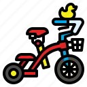 bicycle, bike, toy, tricycle, vehicle icon