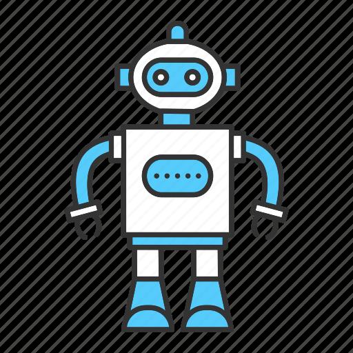 boy, child, cyborg, kid, play, robot, toy icon