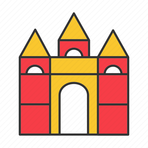 building, castle, child, fortress, game, kid, play icon