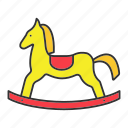 child, game, horse, kid, play, rocking, toy icon
