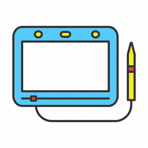 board, child, drawing, magnetic, pen, tablet, toy icon