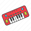 child, instrument, kid, musical, piano, play, toy icon