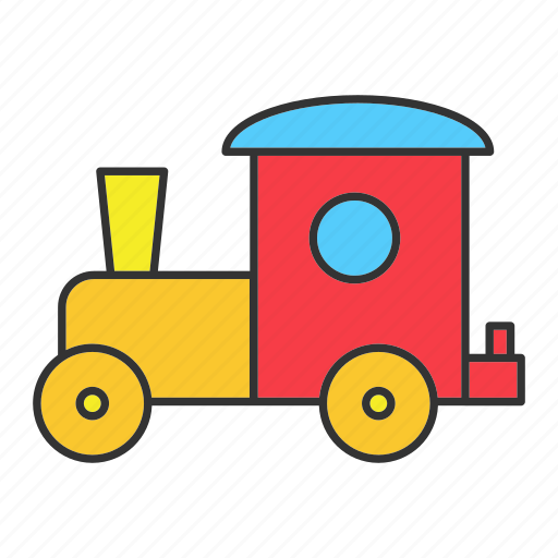 Child Game Kid Play Toy Train Vehicle Icon