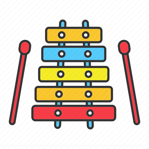 child, instrument, kid, musical, play, toy, xylophone icon