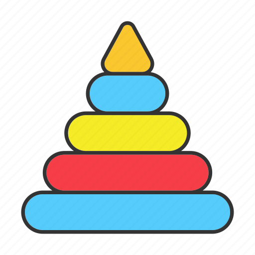 Block, child, game, play, pyramide, tower, toy icon - Download on Iconfinder