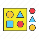 ball, cube, game, shape, sorter, toy, triangle