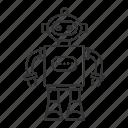 child, cyborg, game, play, robot, robotic, toy icon