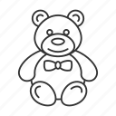 bear, child, gift, kid, present, teddy, toy icon
