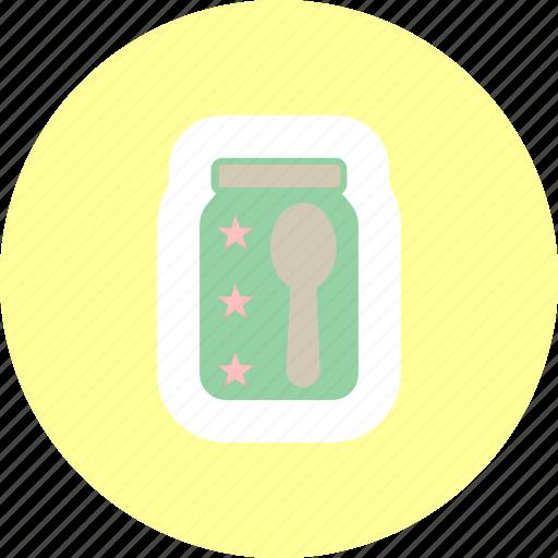 baby food, food, jam, jar icon