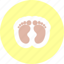 baby feet, feet, foot, toes icon