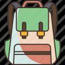 bag, school, student, childhood, backpack