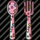 cutlery, spoon, fork, eating, meal