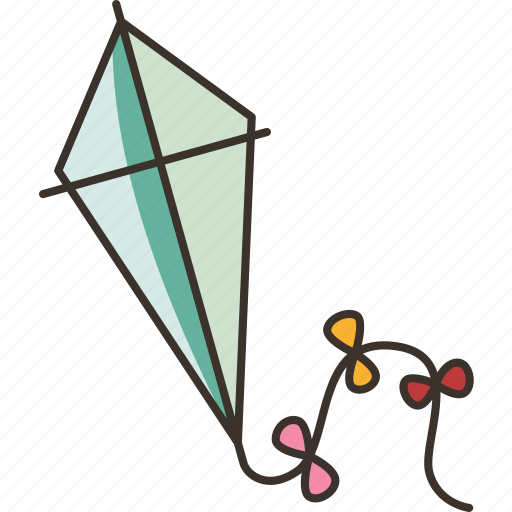 Kite, toy, flying, wind, play icon - Download on Iconfinder