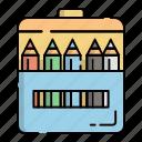 colored pencils, coloring, drawing, education, kindergarten, pencil, student