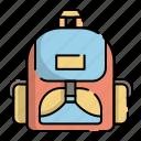 backpack, bag, education, kindergarten, luggage, school, student