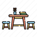 classroom, desk, education, kindergarten, school, student, study icon