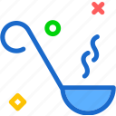 drink, food, grocery, kitchen, ladle, restaurant icon