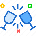 drink, food, glasstoast, grocery, kitchen, restaurant icon